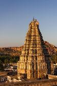 Virupaksha Temple at sunset, Hampi, Karnataka, India — Stock Photo