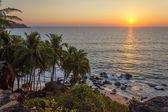 Sunset on the beach, Goa, India — Stock Photo