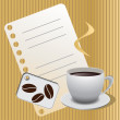 Collection of coffee vector graphic designs — Stock Photo