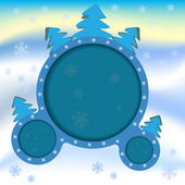 плакат реклама на зиму — Cтоковый вектор