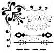 Stock Vector: Vector set of calligraphic design elements