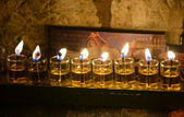 Chanukkah candles — Stockfoto