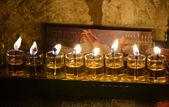 Chanukkah candles — Foto Stock