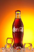 Classic bottle of coca-cola — Stock Photo
