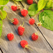 Royalty-Free Stock Photo: Raspberry on wooden table