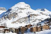 Dağ kayak merkezi — Stok fotoğraf
