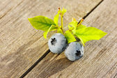 Blueberry on wooden table — Stock Photo