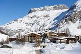 Stazione sciistica di montagna — Foto Stock