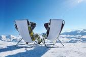 Après ski nas montanhas — Foto Stock