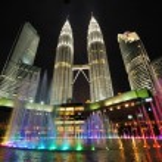 City skyline of Kuala Lumpur, Malaysia. Petronas Twin Towers. — Stock Photo #13965213