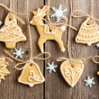 Christmas homemade gingerbread cookies — Stock Photo #14050405