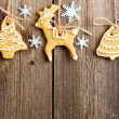 Christmas homemade gingerbread cookies — Stock Photo #14050418