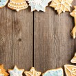 Christmas homemade gingerbread cookies — Stock Photo