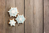 Christmas homemade gingerbread cookie — Zdjęcie stockowe