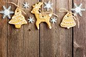 Galletas de jengibre casero de navidad — Foto de Stock