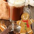 hot chocolate&quot — Stock Photo