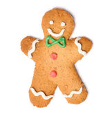 Christmas gingerbread man cookie — Stock Photo