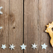 Christmas homemade gingerbread cookies — Stock fotografie
