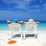 Couple on a beach — Stock Photo #15341323