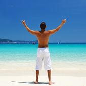 Man at beach — Stock Photo