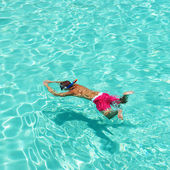Man snorkeling — Stock Photo