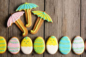 Easter homemade gingerbread cookie — Stock Photo