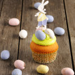 Stock Photo: Easter homemade cupcake