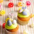 Easter homemade cupcakes — Stock Photo