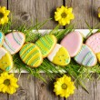 Easter homemade gingerbread cookie - Stock Photo