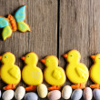 Easter homemade gingerbread cookie - Stockfoto