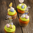 Stock Photo: Easter homemade cupcakes