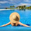 Royalty-Free Stock Photo: Woman at poolside