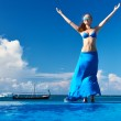 Woman at poolside — Stock Photo #21611347