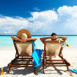 Couple on Maldives beach — Stock Photo #21612963