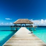 Beautiful beach with jetty — Stock Photo #22493925