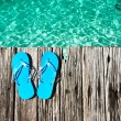 Slippers at jetty — Stock Photo #23116594