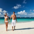 Couple on a beach at Maldives — Stock Photo #23116638