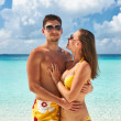 Couple on a beach at Maldives — Stock Photo #23116662
