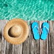 Slippers at jetty — Stock Photo #23852861