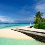 Постер, плакат: Beautiful beach at Maldives
