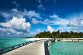 Beautiful beach with jetty — Stock Photo