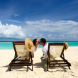 Stock Photo: Couple on a beach