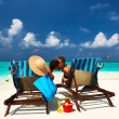 Couple on a beach - Stockfoto