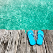 Slippers at jetty — Stock Photo #24791523