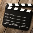 Movie production clapper board — Stock Photo