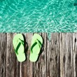Slippers at jetty — Stock Photo #25231463
