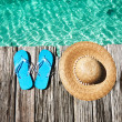Slippers at jetty — Stock Photo #25969877