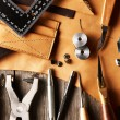 Leather crafting tools — Stock Photo #27343727