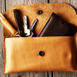Handmade leather product — Stockfoto