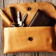 Stock Photo: Handmade leather product